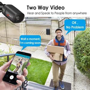 Image 4 - ANRAN 1080P IP Camera Wireless Security Camera Outdoor HD Surveillance Night Vision Home Wifi Camera Metal Bullet Camera