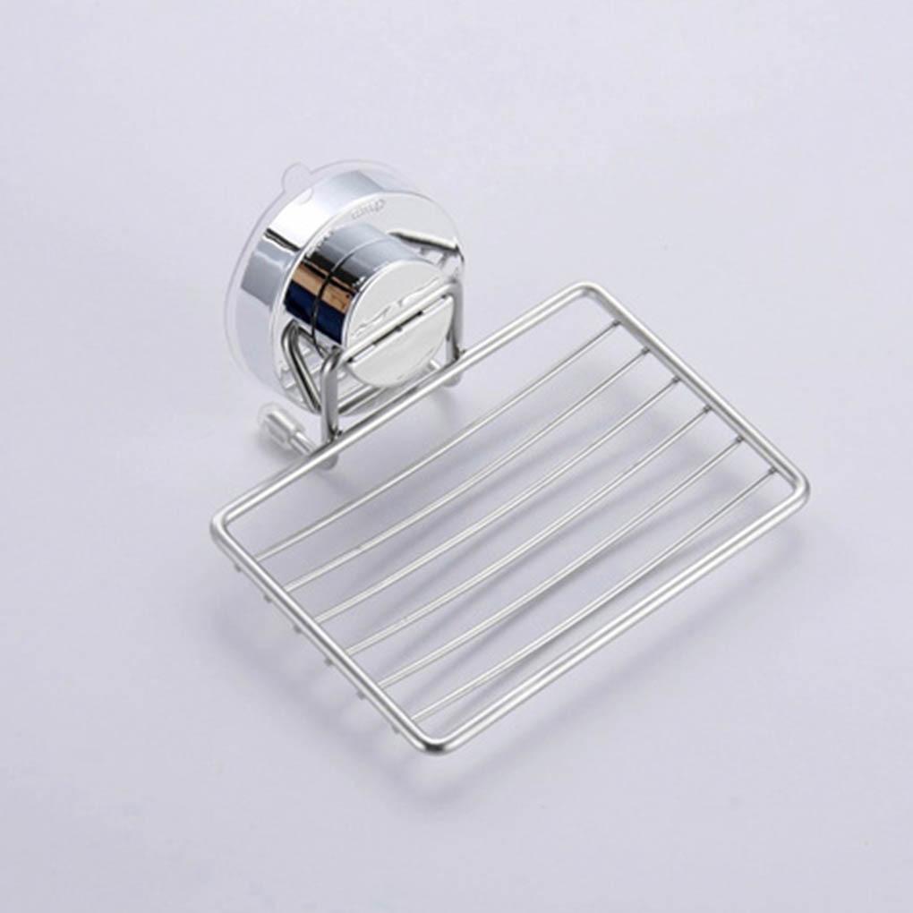 Переносной присоска чашка мыло держатель слив нержавеющая сталь настенный мыло тарелка душ ящик тарелка +без перфорации ванная аксессуары