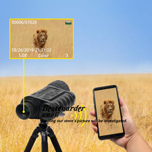 Bestguarder WG-50 Plus Night Vision Telescope with Wifi Function IR Monocular Wildlife 6x50mm Hunting Infrared 850NM HD Camera