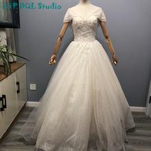 Сверкающее бальное платье с открытыми плечами свадебные платья