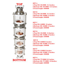 """Bolha coluna de Destilação com 4 seções de cobre para 1.5 """" 3"""" coluna Flauta De Vidro destilador Destilador"""