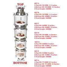 """Rame bolla di Distillazione colonna con 4 sezioni per 1.5 """" 3"""" distillatore colonna Di Vetro Flauto Distillatore"""