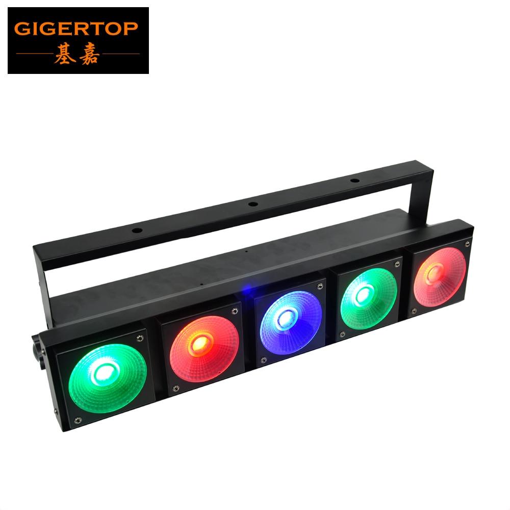 TIPTOP 5x30W COB RGB 3IN1 Color DMX Stage Led Effect Light COB Matrix Effect Led Pixel Control 3 Color Bar Beam Light TP E0530 Stage Lighting Effect    - title=