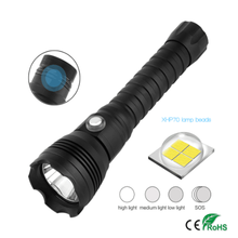LED Scuba Diving Flashlight Underwater 100M Torch Max 10000lumens 4-Mode Dive Lantern Dive By 26650 Battery