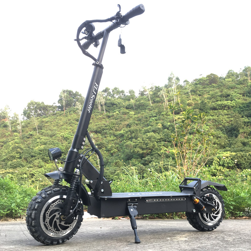 FLJ Scooter électrique puissant 60 V/3200 W Scooter électrique avec 11 pouces sur route/hors route gros vélo de coup de roue