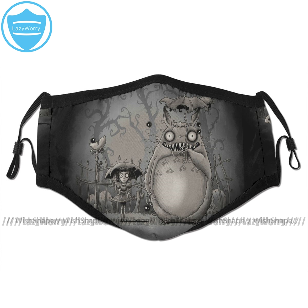 My Neighbor Totoro Mouth Face Mask My Creepy Neighbor Facial Mask Fashion Cool With 2 Filters For Adult