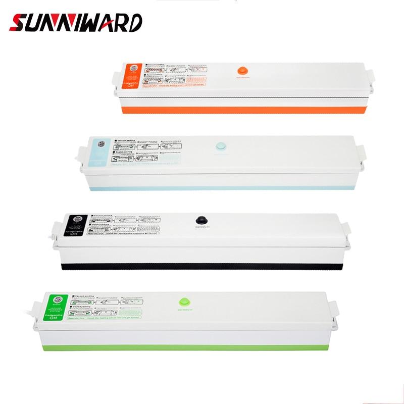 Sunniward 220v/110v Household Food Vacuum Sealer Packaging Machine Film Sealer Vacuum Packer Including 15pcs Bags