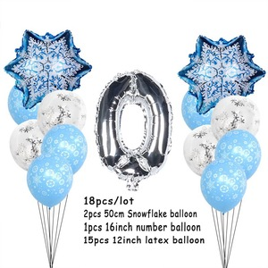 Image 5 - Kerst Sneeuwvlok Latex Ballonnen Baby Shower Decor Nummer Ballon Meisje Kids Verjaardagsfeestje Lucht Globos Xmas Sneeuw Feestartikelen