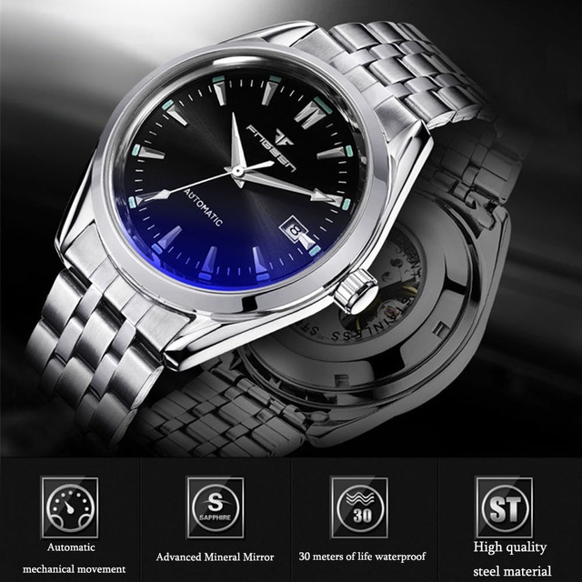 Self Winding Mechanical Luminous Business Casual Watch 4