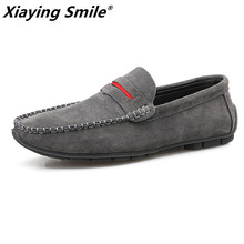 Men's Sneakers Shoes Mocassin Men Loafers Slip On Fashion Sapato Masculino Soft Pig-Suede