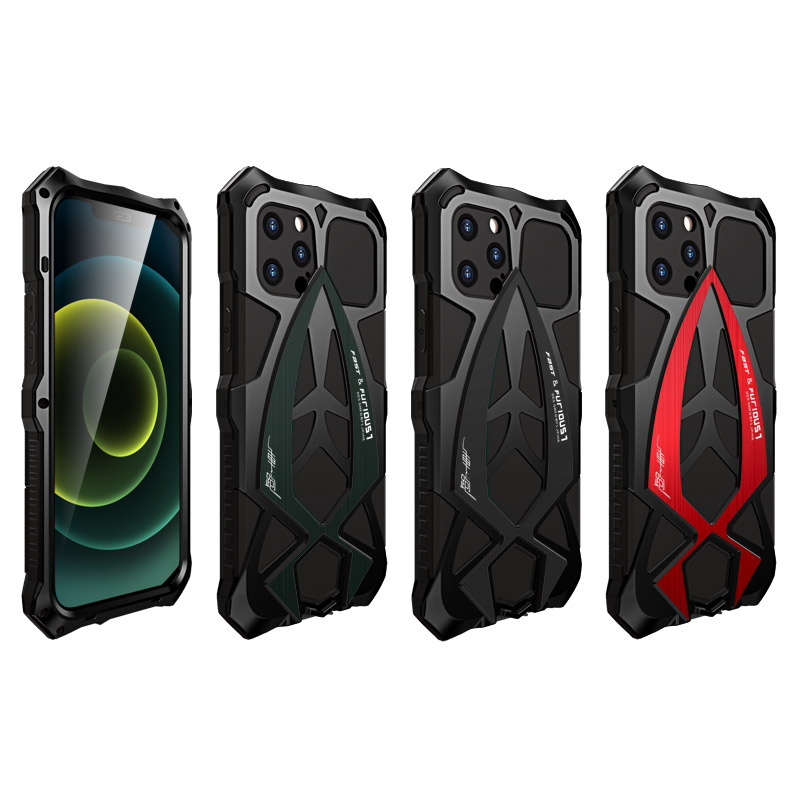 For iPhone 12 Pro Max 12Mini Case,Metal Armor Rosdster Phone Case 360°All Round Coverage Protection Cool Travelling Cover 6
