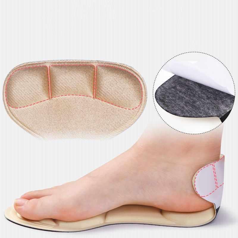 1 çift taban kadın ayakkabı topuk pedleri kaymaz ped ekler yumuşak sünger nefes masaj kadın topuk koruyucu ayakkabı tabanlığı