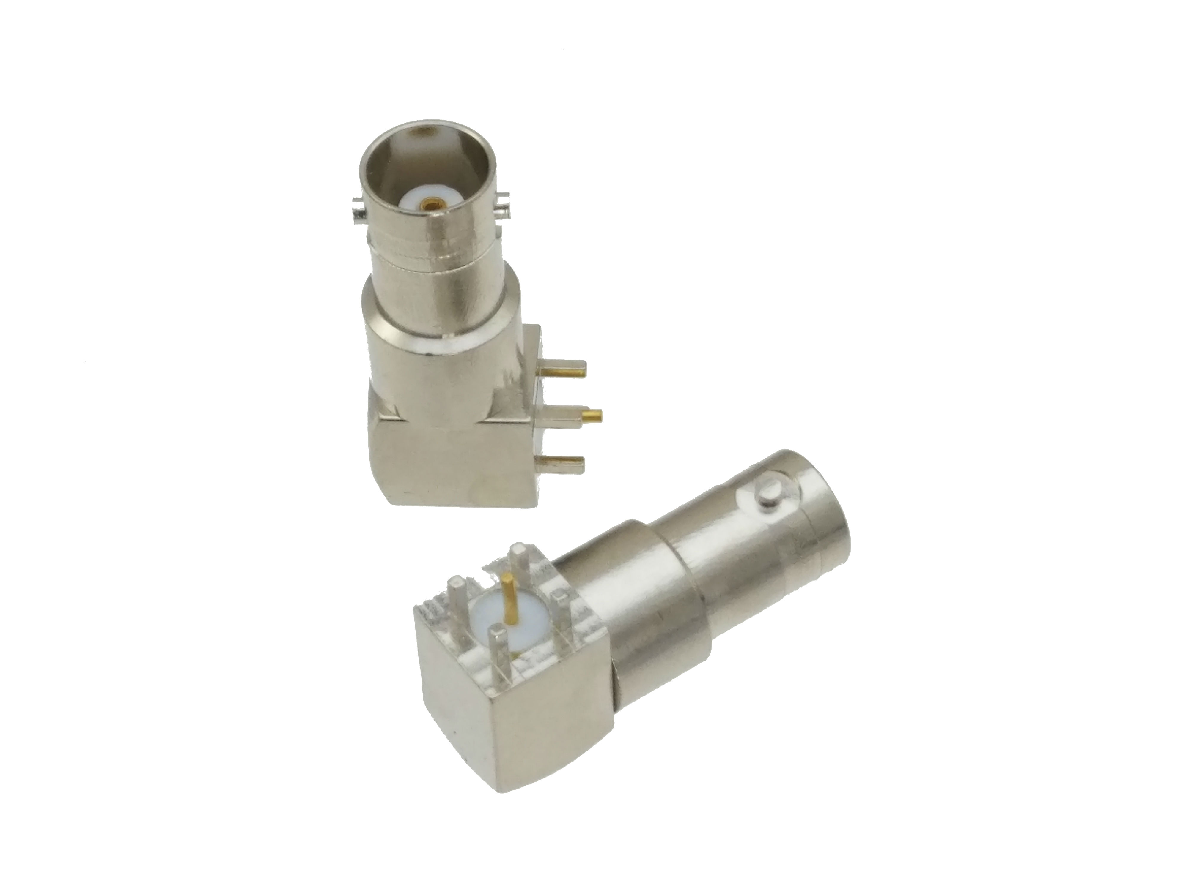 BNC Female Jack Right Angle Solder PCB Mount RF Coaxial Connector