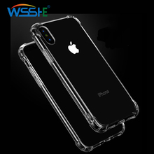 Silicone Anti-Drop ShockProof Phone Case For iPhone X XS Max  Protective Soft Case For iphone XR Xs Max X Clear Soft Back Cover стоимость