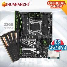 HUANANZHI X99 F8 X99 האם עם Intel XEON E5 2678 v3 עם 4*8G DDR4 שאינו ECC זיכרון משולבת ערכת סט NVME SATA 3.0 USB 3.0