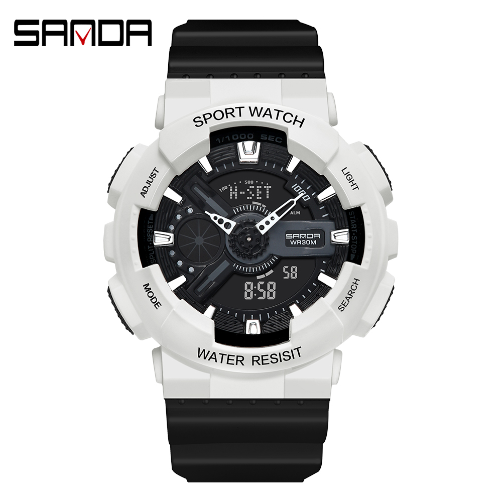2020 SANDA Military Men's Watch Top Brand Luxury Waterproof Sport Wristwatch Fashion Quartz Clock Couple Watch relogio masculino 9