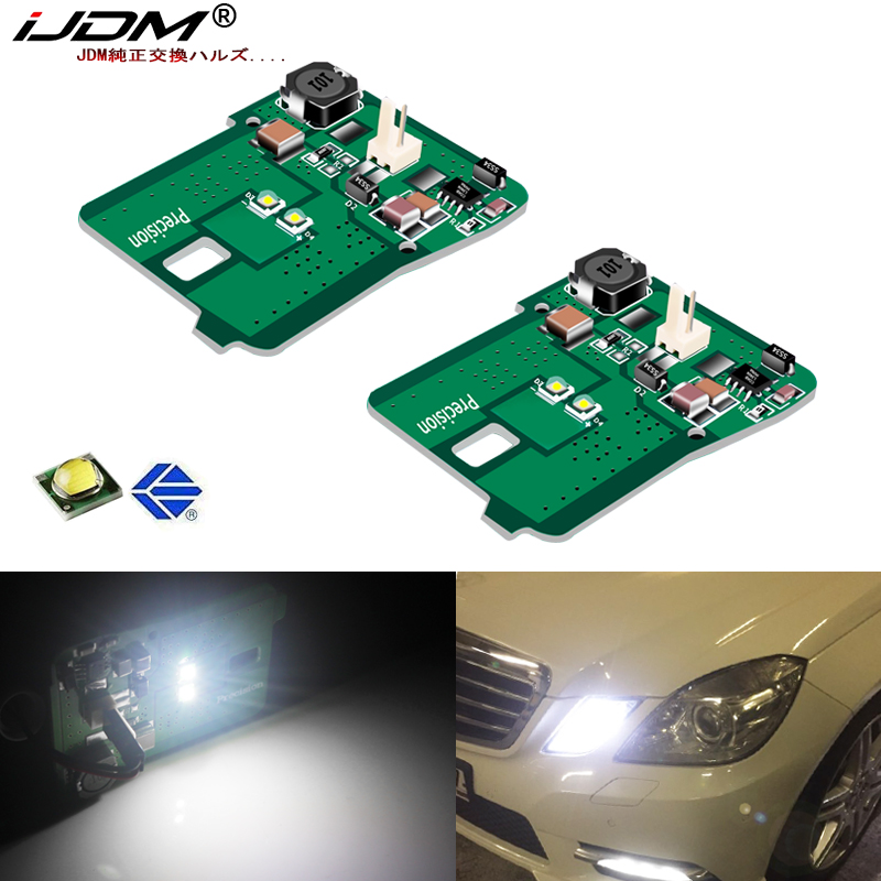 IJDM HID Xenon White Parking Light Assy For 2010-2013 Mercedes W212 E-Class E350 E550 E63 AMG Pre-LCI Parking Position Lights