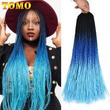 TOMO 24 Cal długie szydełkowe warkocze Senegalese Twist Ombre dwukolorowe włosy plecione syntetyczne Kanekalon do przedłużania włosów na warkocze