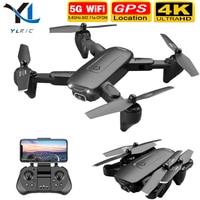 2020 nuevo F6 drone 4K Cámara dual de HD GPS FPV WiFi drone sigue en 5g de flujo óptico plegable RC quadopter profesional drone