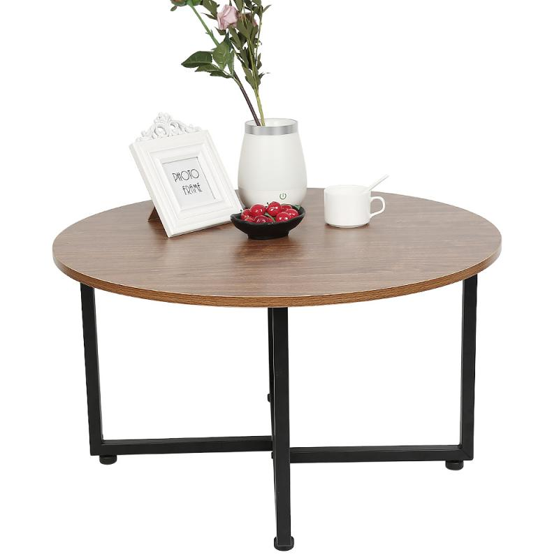 70 * 70 * 40cm American Retro Style Creative Round Coffee Table Modern Home Living Room Sofa Round Table Dropshipping HWC