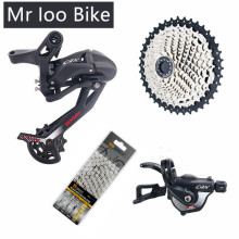 11-speed dial for mountain bike shifter for m6000  sram gx eagle 11 deore groupset Mtb shifter with 42T cassete and 11s chain 1 10 groupset 10 speed shifter rear derailleur 10s 11 42t cassette k7 group set for mtb mountain bike parts m610 m670 x5 x7
