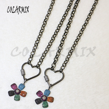 3 strand link chain necklace pendants necklace flowers necklace accessories for women jewels gift for lady 5879