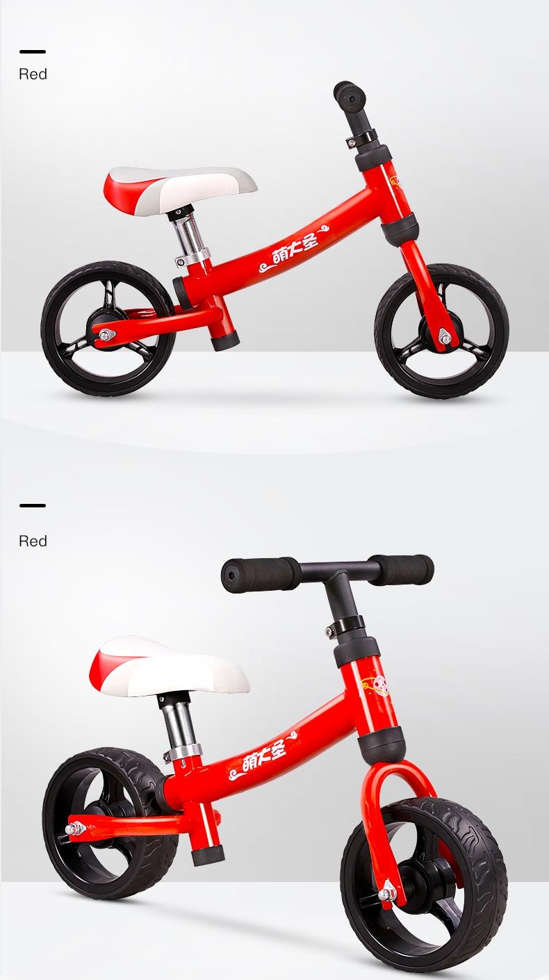 H3641b5985b7e4bcead3324075664ff77Y Montasen Children  Push Bike  for 1.5- 3 Year Old Kids High Carbon Frame Balance Cycle for Boy Girls to Walk  Mini Push Bicycle