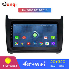 4G TUTTO NETCOM Wanqi Android 8.0 2.5D full touch screen Per Volkswagen POLO berlina 2008-2018 gps per auto radio video lettore dvd(China)