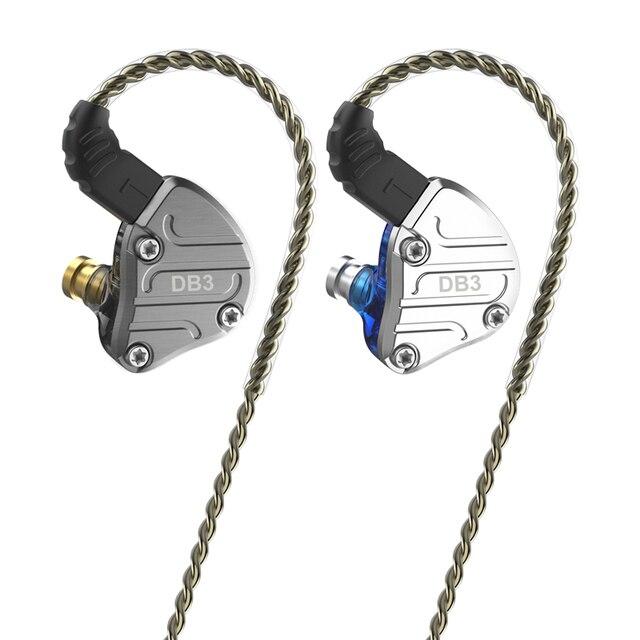 2020 NICEHCK DB3 2DD + 1BA היברידי 3 נהג יחידות באוזן אוזניות צג ריצה ספורט אוזניות HIFI Earbud IEM DJ 2Pin NX7 X49