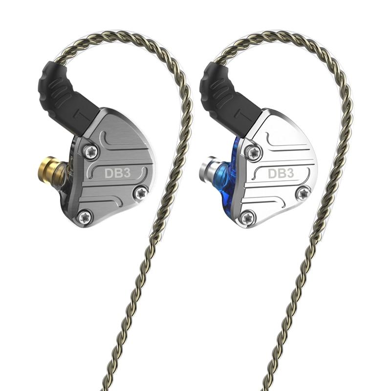 2020 NICEHCK DB3 2DD + 1BA híbrido 3 unidades de controlador en el auricular del oído Monitor Sport auriculares auricular de alta fidelidad IEM DJ 2Pin NX7 X49