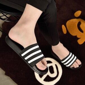 ASIFN тапочки для мужчин, мужские шлепанцы, пара, мягкие черные и белые полоски, EVA, Повседневная летняя обувь, zapatos hombre