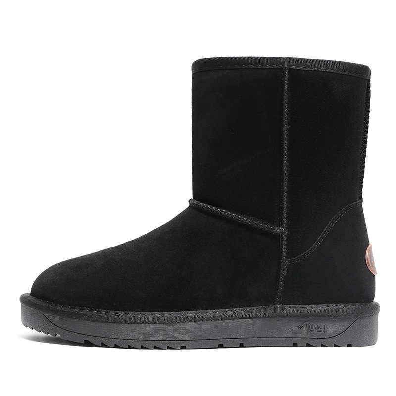 2019 yeni avustralya botları hakiki deri kürk kar botları kadın üst kadınlar için yüksek kaliteli kış botları sıcak Botas Mujer