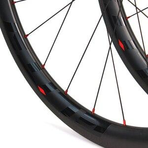 Image 5 - Elite SLR углеродное волокно автомобильный велосипед колесо прямого оттягивания низкосопротивления керамическая ступица 25 / 27 мм ширина трубы без внутренней оболочки 700C колесная пара