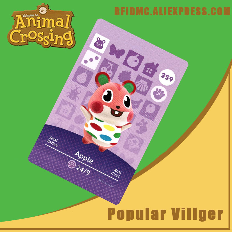 359 Apple Animal Crossing Card Amiibo For New Horizons