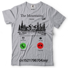 Men T shirt Forest Camping Mountains are