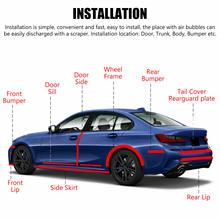 1 rolo de tira anti-colisão 5-7cm3meter carro fibra de carbono adesivo tira 5d protetor de borracha do peitoril da porta adesivo