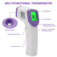 Wholesale Infrared Forehead Thermometer Currently Available Temperature Non Contact Human Body Forehead Electronic Tester New