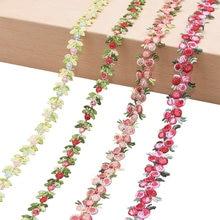 2Yards Blume Bestickte Spitze Trim Bänder Stoff Trim DIY Nähen Handgemachte Handwerk Materialien Kleidung Zubehör Dekoration