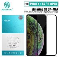 Para iPhone 12 Pro Max de NILLKIN 9H Anti-explosión Protector de pantalla H/H + Pro/CP/XD/3D de vidrio templado para Apple 11 XR XS Mini