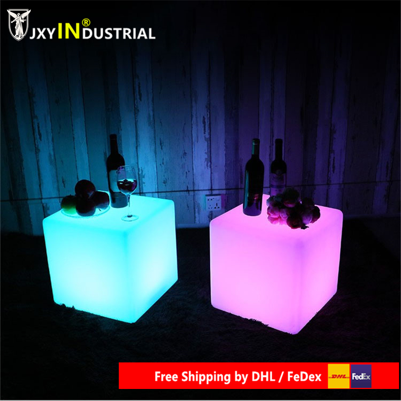 20cm LED Outdoor Chair Cube Square Led Lighting Chair LED Night Light Cube Seat Free Shipping
