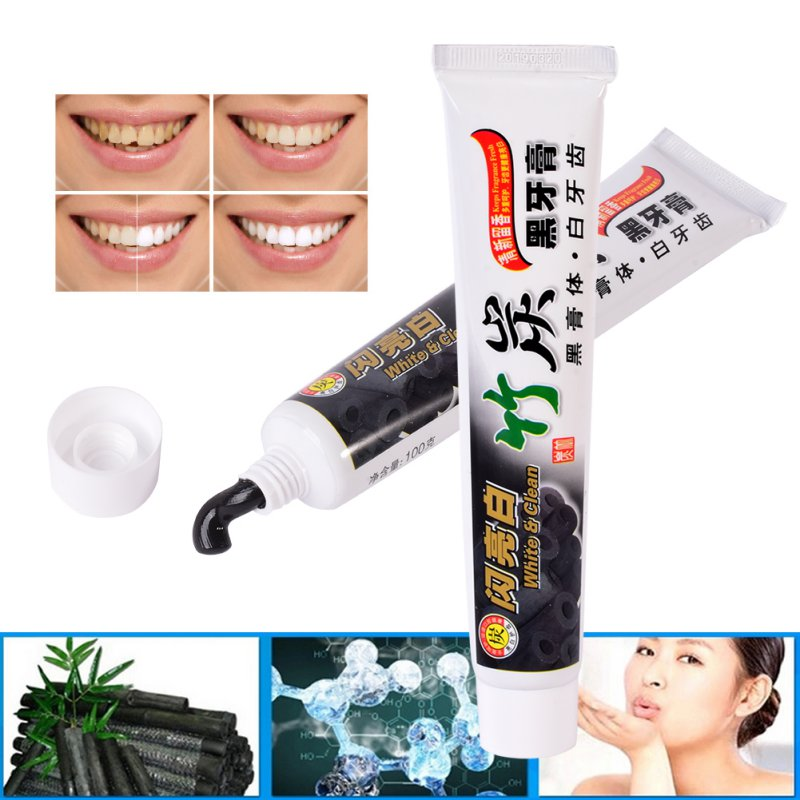 Toothpaste Whitening Bamboo-Charcoal Teeth-Beauty Health Dental Oral-Care Safe 100g Easy
