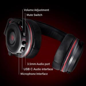 Image 5 - EKSA E900 Pro Виртуальная 7,1 Surround Sound Gaming Headset usb портами и светодиодным индикатором/3,5 мм проводные наушники с микрофоном и регулировкой громкости Управление для Xbox PC Gamer
