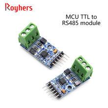 1 pces único microcomputador ttl para rs485 485 para porta serial uart conversão mútua módulo automático de duas vias rs485t