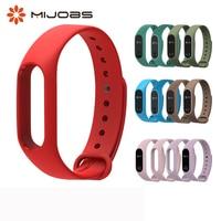 Correa de silicona para Xiaomi Mi Band 2, correa de silicona para pulsera inteligente mi Band 2, accesorios originales para reloj inteligente M2 Mi Band 2