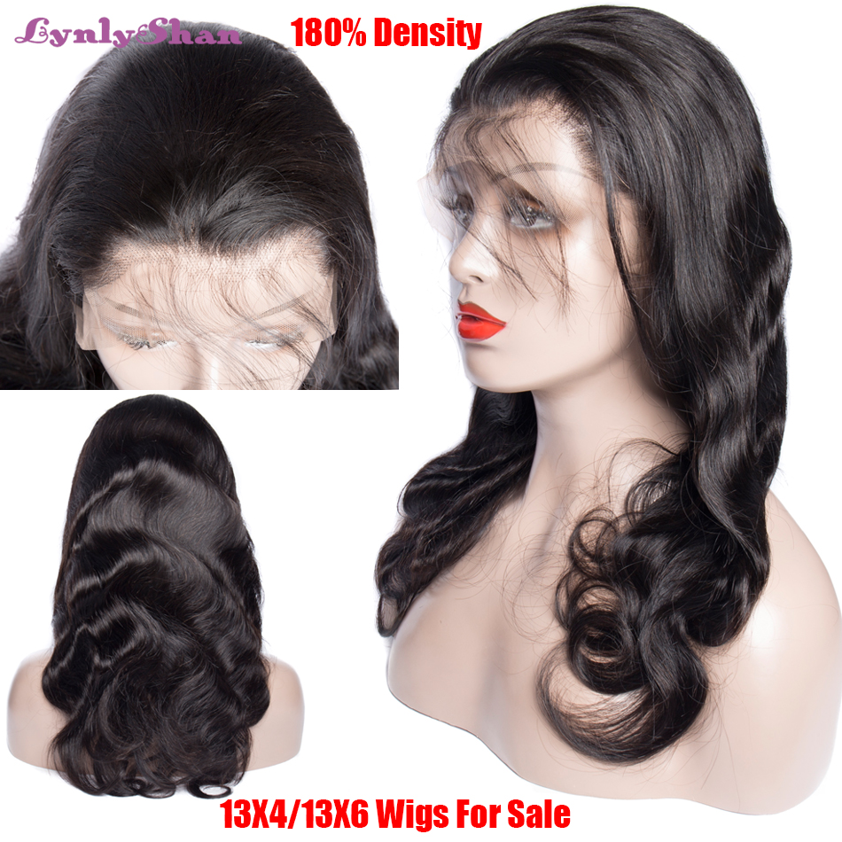 Wig 13x6 Human-Hair Lace-Front-Wigs Body-Wave Transparent Hd Lace Natural-Color Brazilian