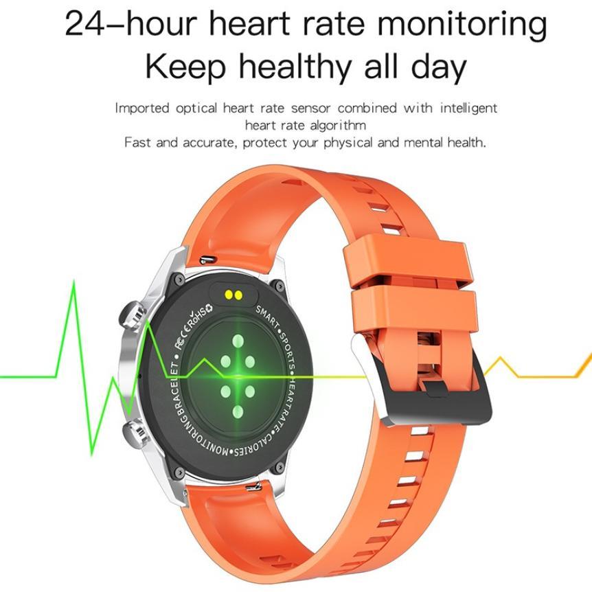 CAH20072902O_CK29 Round Thin 1.28 Screen Smart Watch Bluetooth Touch Waterproof IP67 Smart Band Call Temperature Multi-dials Smart Bracelet (9)