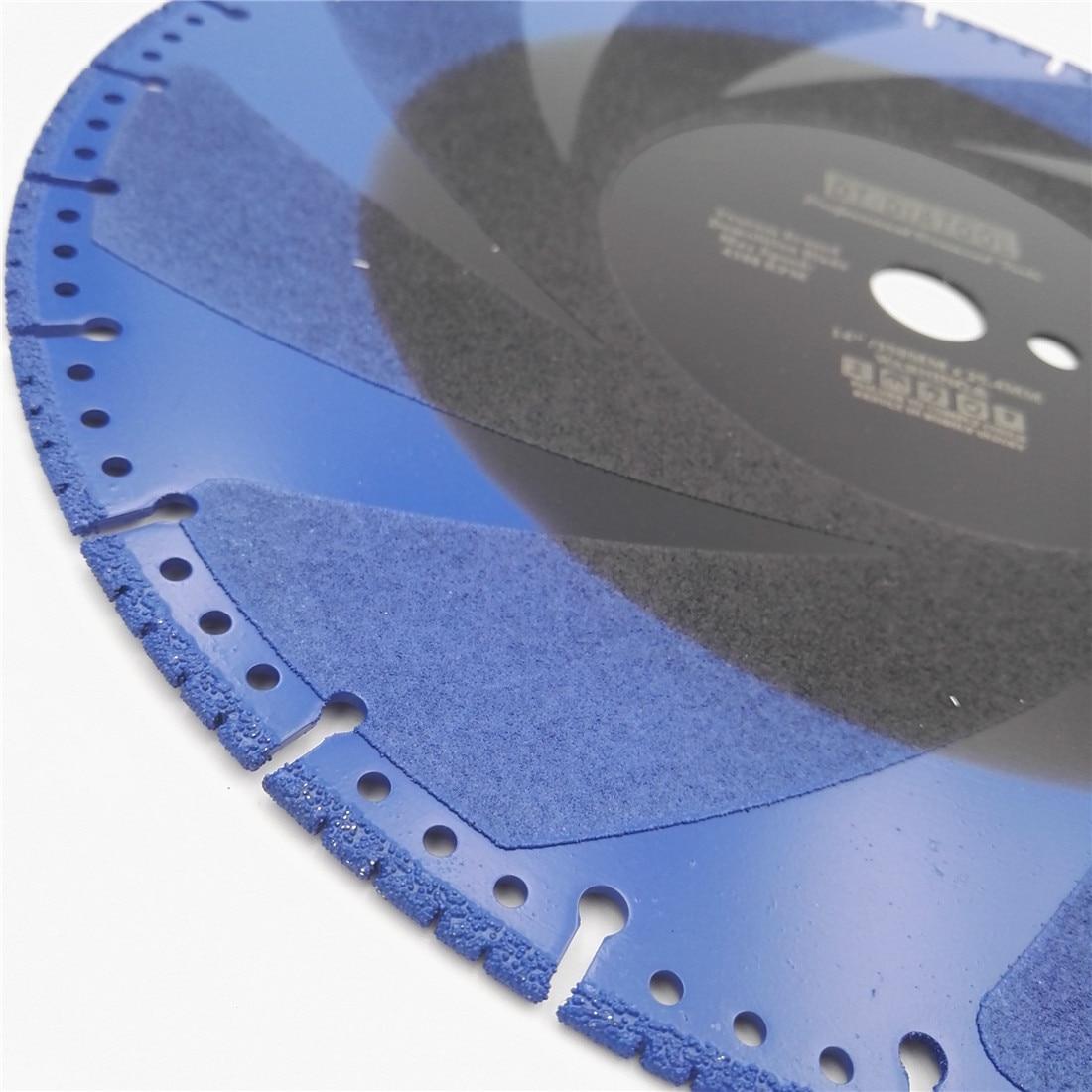 SHDIATOOL 2pcs Dia 14 Diamond Silent Saw Blade Sandwich Steel Core Cutting Disc Bore 60mm 50mm Granite Blade Diamond Wheel - 5