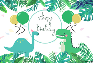 Image 2 - Sensfun Cartoon Dinosaur Party Backdrop Children Birthday Party Boys Backgrounds For Photo Studio Custom Vinyl Polyester
