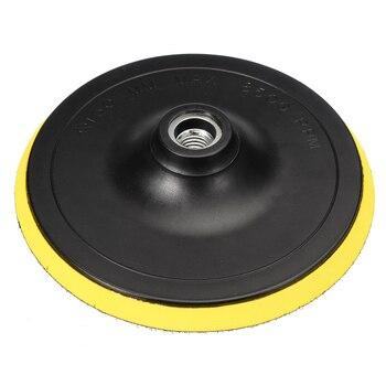 MAYITR 1pc 3/4/5/6/ 7 inch Car M14 Backing Plate Pad Hook & Loop Polishing Buffing Dia 75 100 125 150 180mm