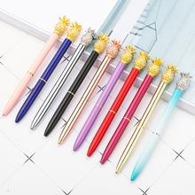 цена на Pineapple Pen Cool Metal Pineapple Ballpoint Pen for School Office Writing Stationery 10pcs/lot